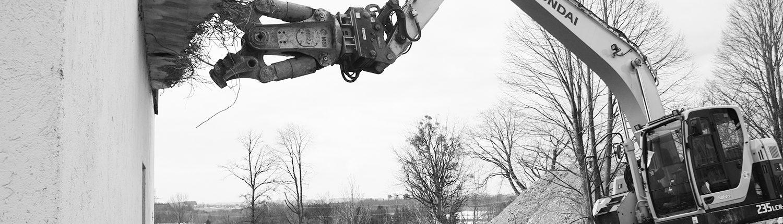 Abbruch-Abriss-Baggerarbeiten