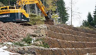 Forstwegbau-Abhang-Festigung-Matheis