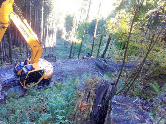 Reparatur Rodelweg am Blomberg in Wackersberg
